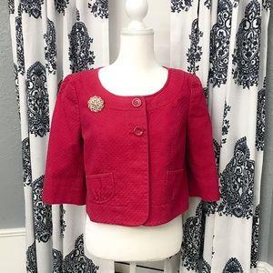 Ann Taylor Pink Crop Blazer